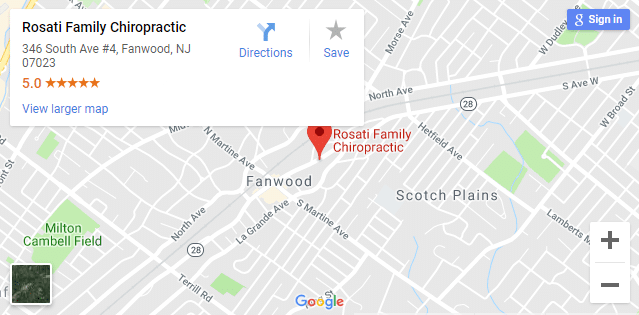 Map of Fanwood Chiropractors